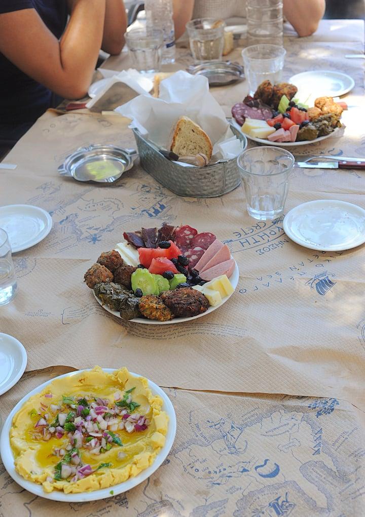 Savouring mezedes, or Cretan tapas.
