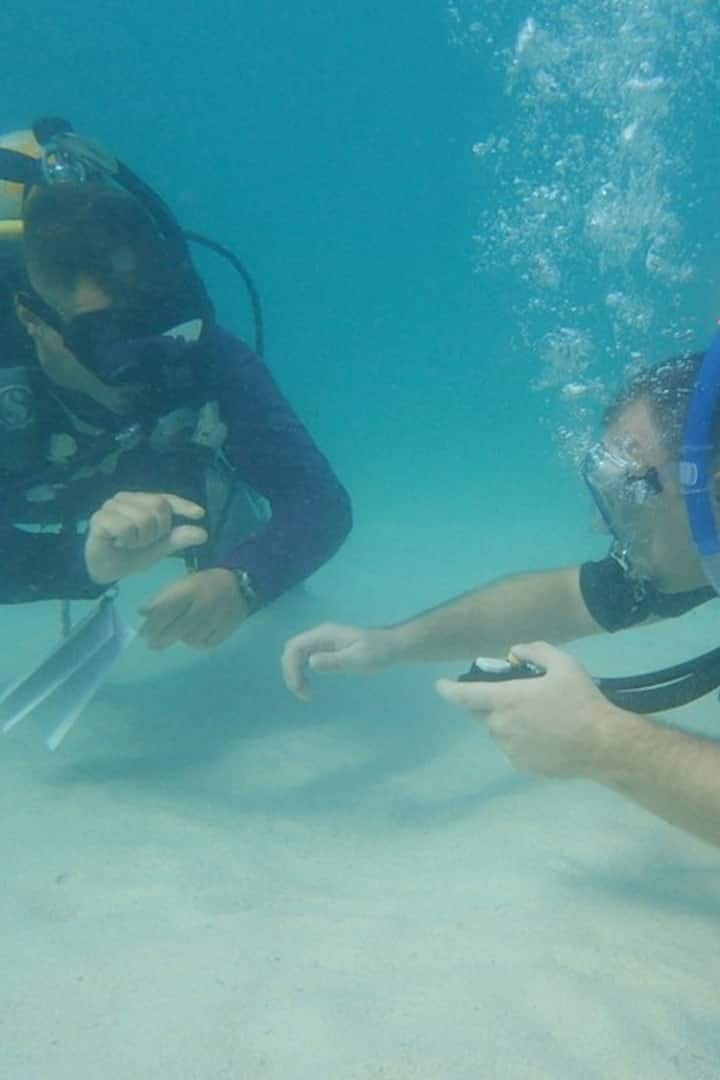 Bouyancy adjustment before dive