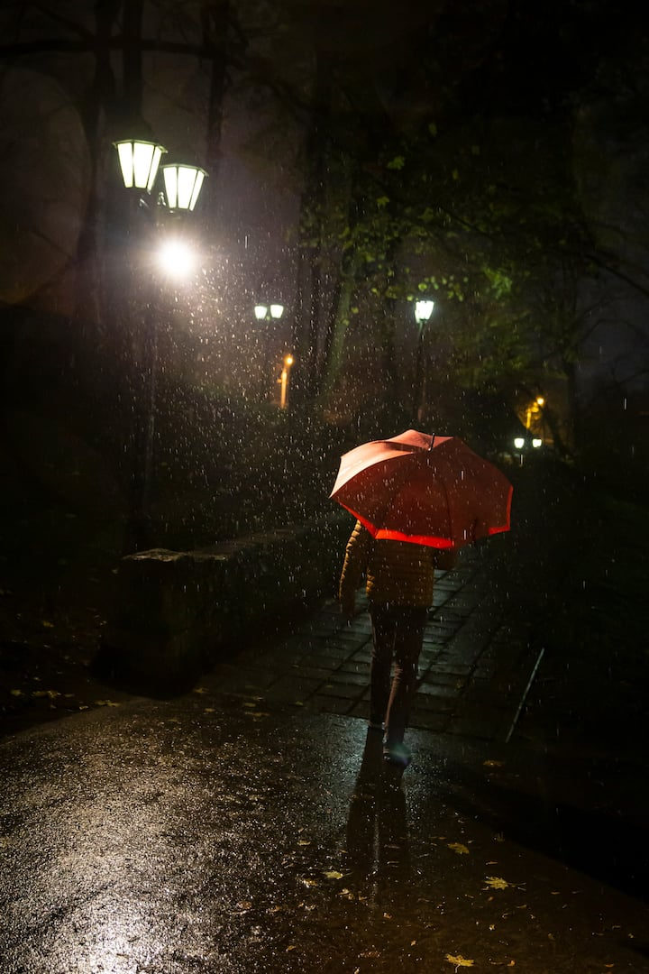 Rainy night in Riga