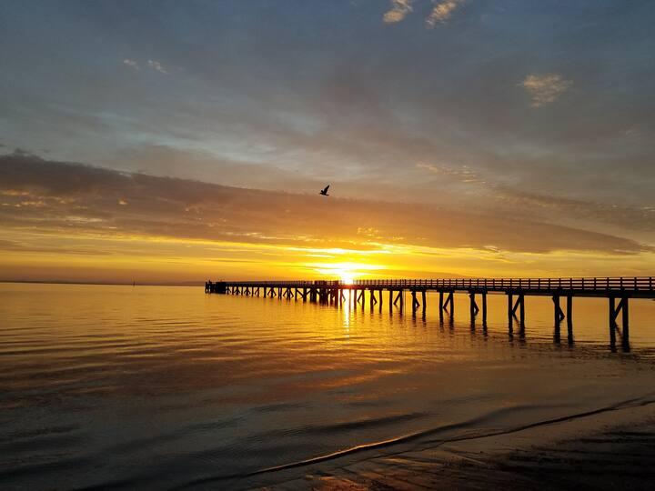 Sunrise over the wharf