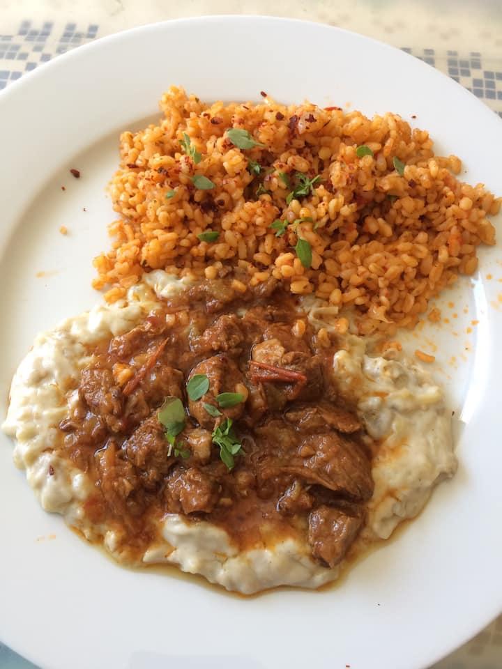 Traditional Turkish food Hünkar Beğendi