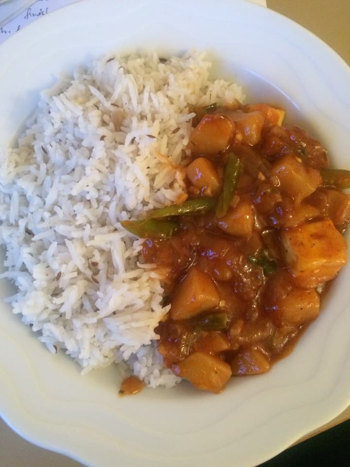 Rice and Potato Curry