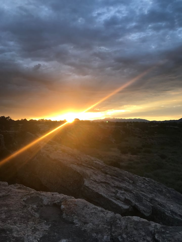 Sunrise at the canyon
