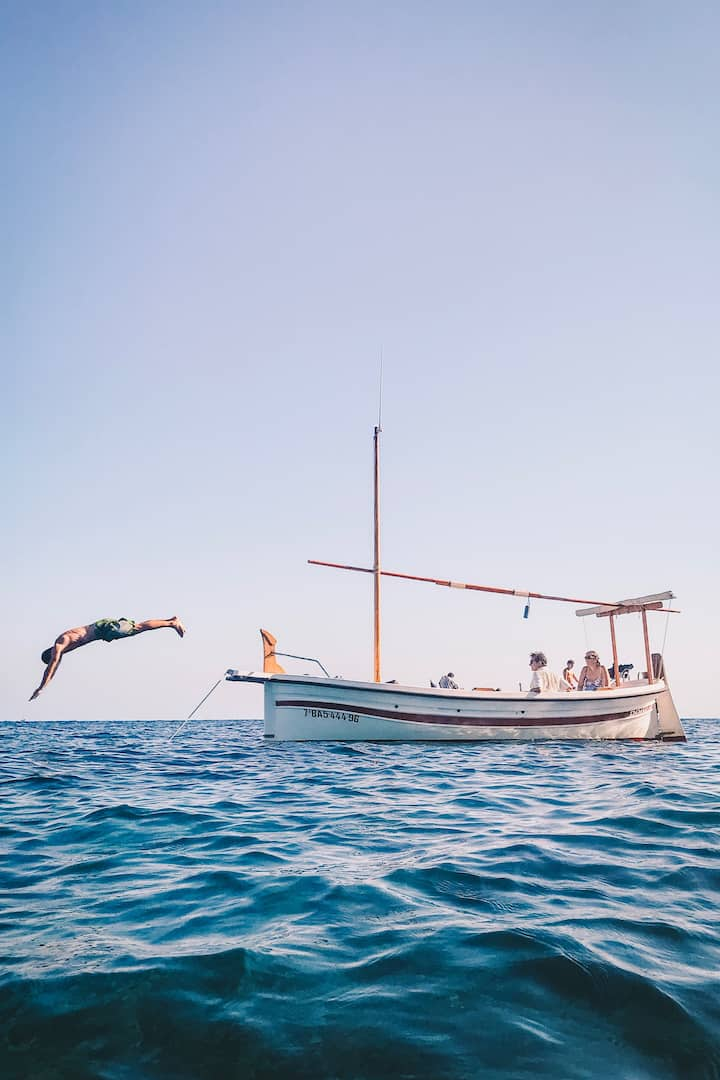 Jumping in to the Mediterranean sea