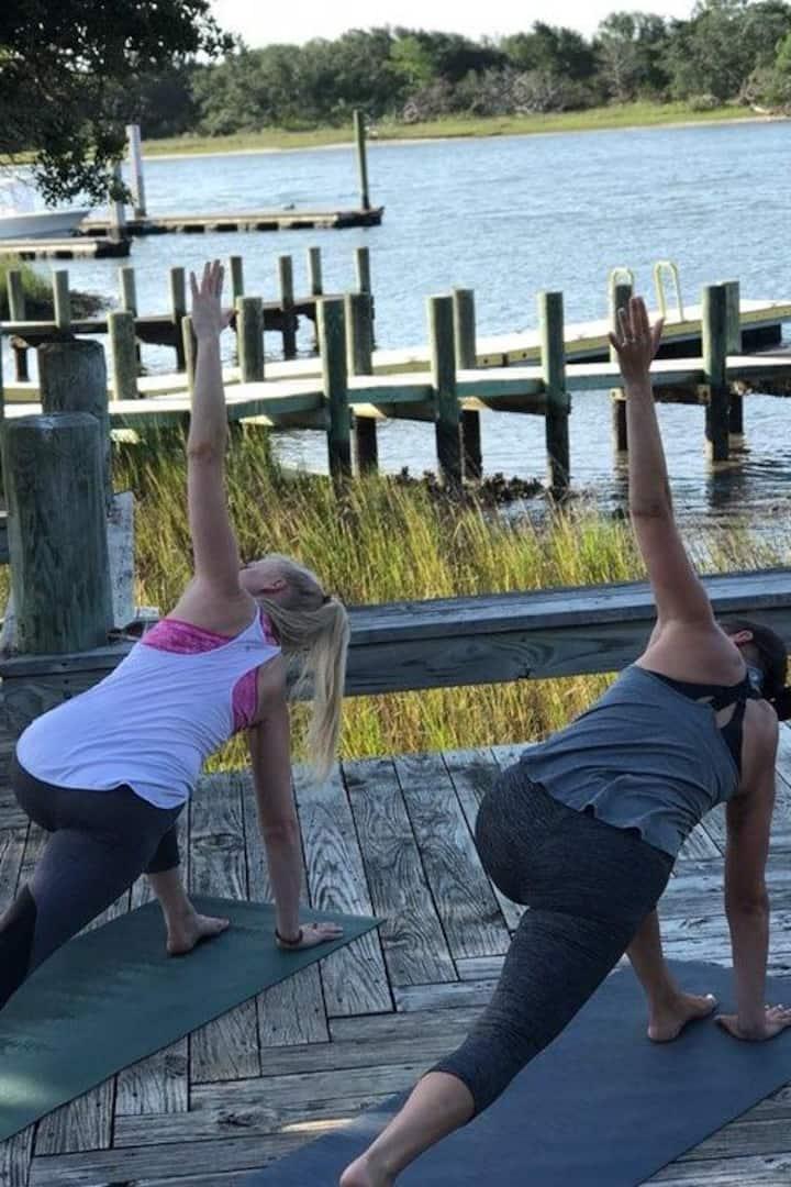 Board walk yoga