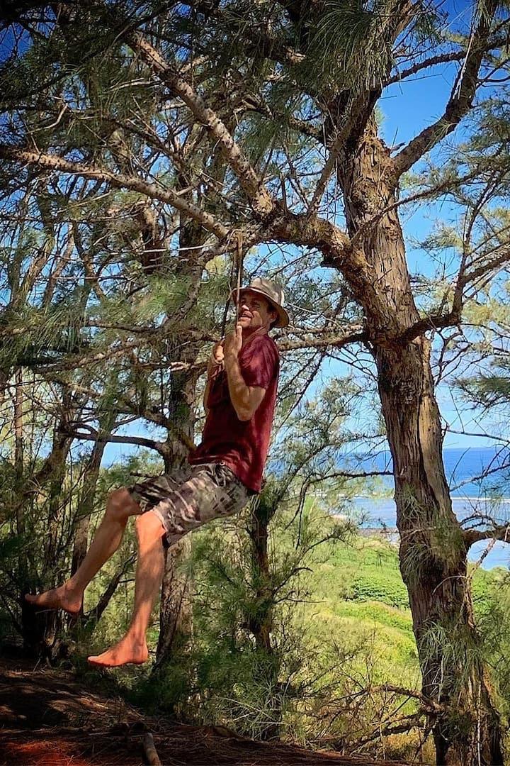 hanging from hau rope