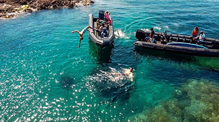 Swimming and snorkeling moment