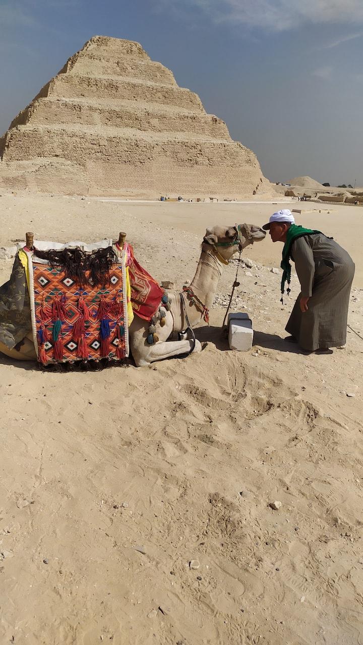 THE STEP PYRAMID OF SAQQARA YOU CAN tookwith camel Españiol ENGLISH AND PORTUGUESE ARABIC 6