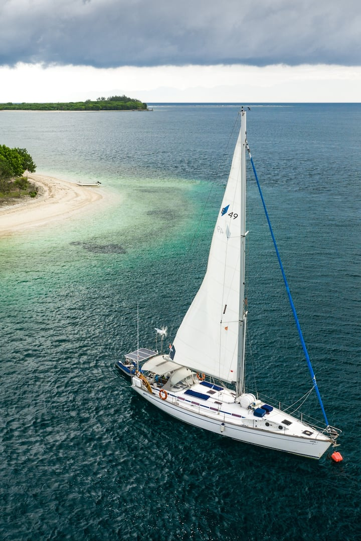Explore the wild islands by yacht
