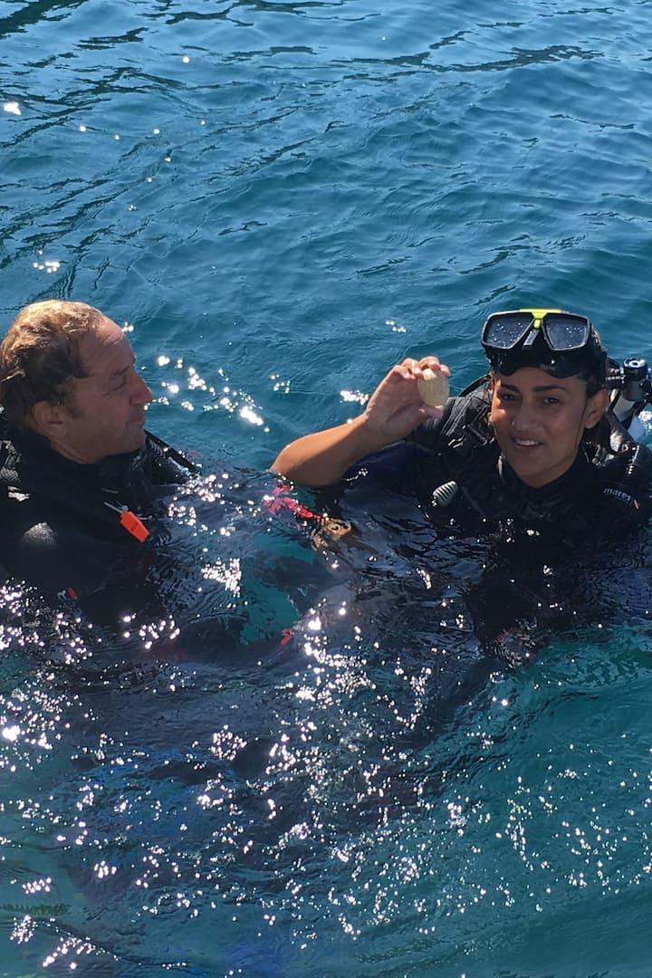 A happy diver!