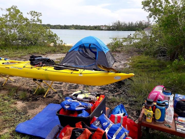 Teaching camping skills.