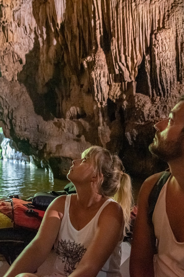 Underground boat ride at the Indian Cave