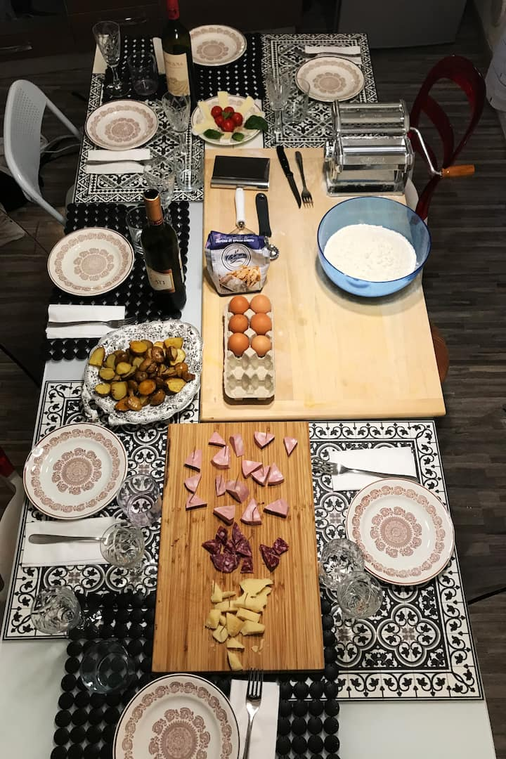 my table ready with aperitivo for you