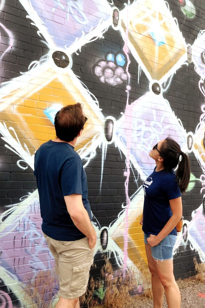 Street art and finding clues