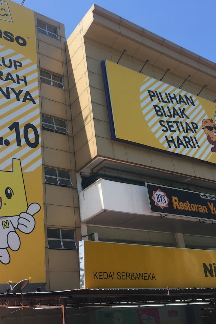 Huge signage: Everything at RM2.10!!!
