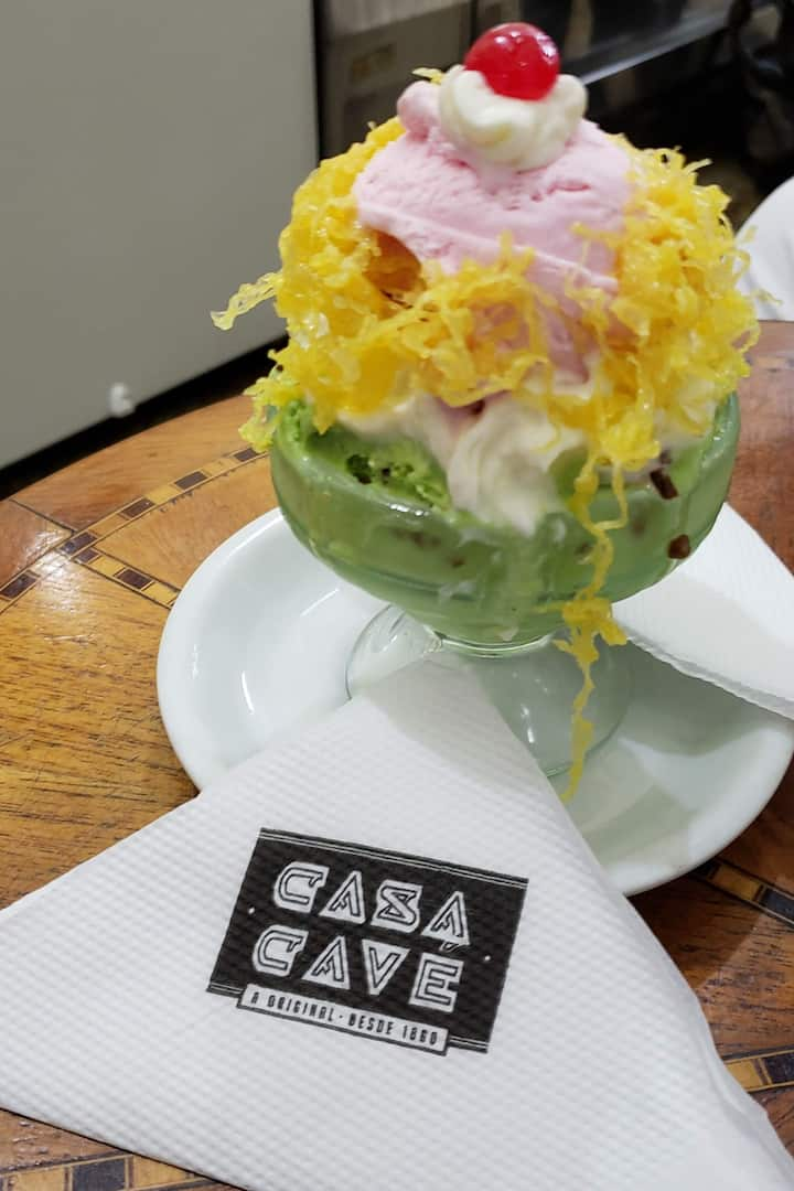 Pausa pro clássico sorvete da Cavé