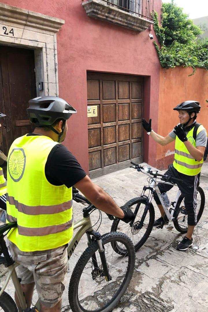 Instrucciones del recorrido en bici
