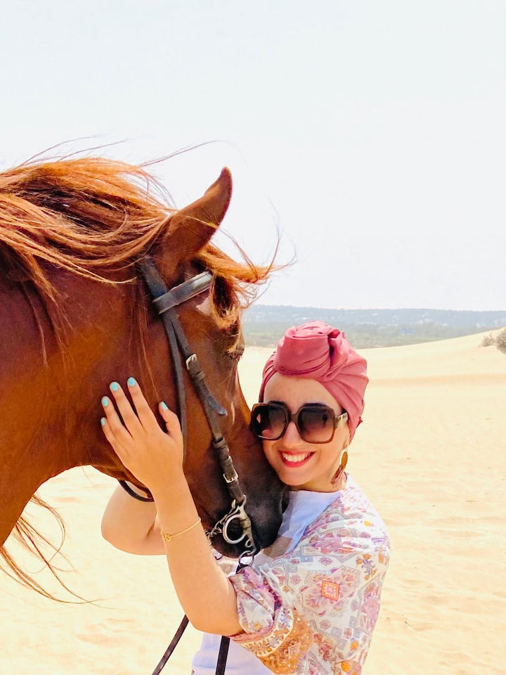 a great time with horses