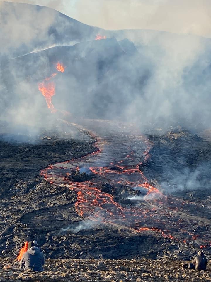 Volcano in April