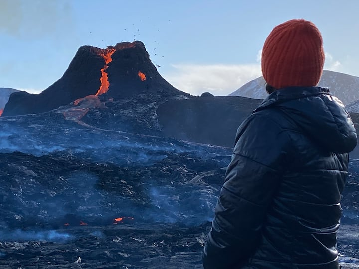Volcano in March