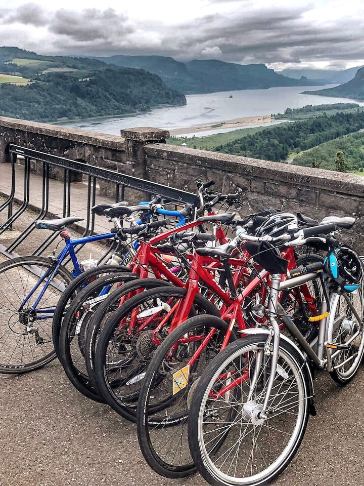 Our bikes get the best view of all!