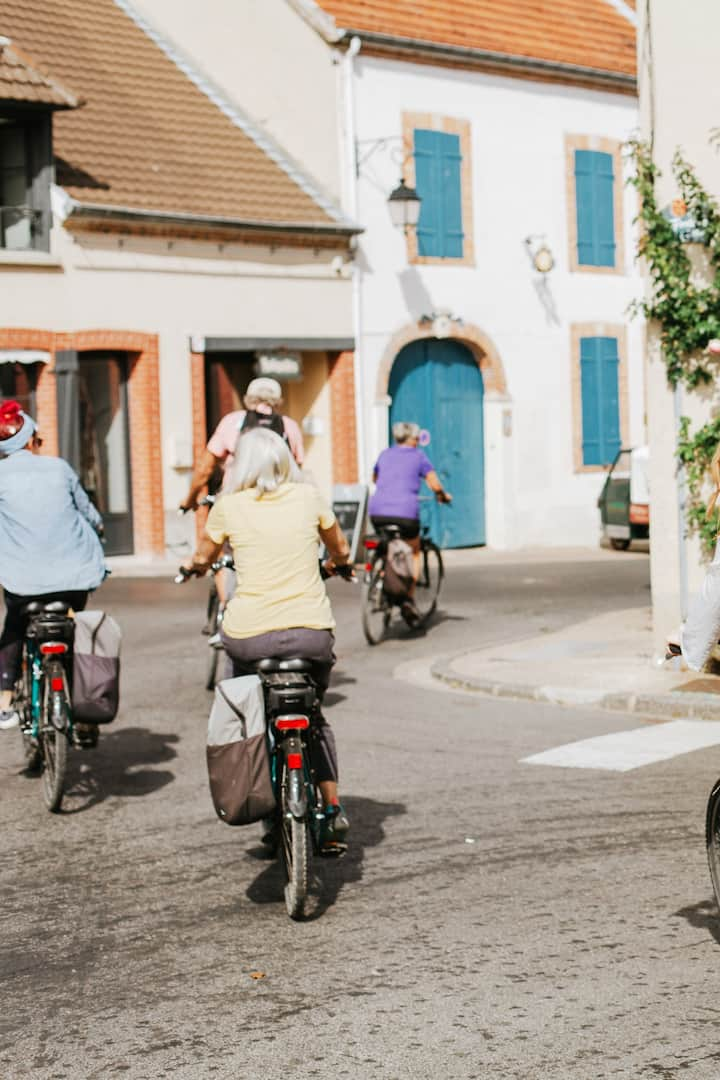 Biking through Champagne villages