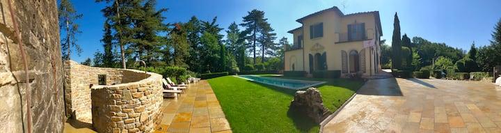Villa + Tower near Florence, Italy