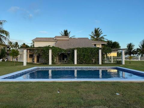 Casa frente Mar, Piscina, 5 Suítes, Ilha Itaparica