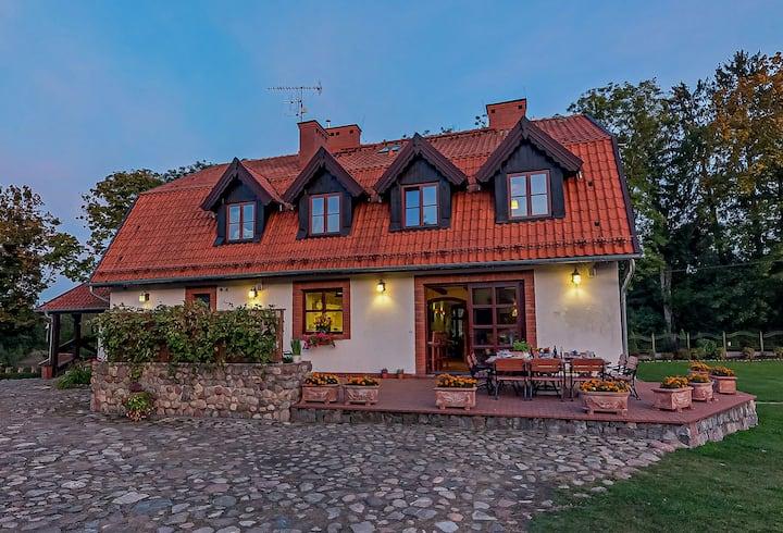 Osada Ulnowo - Luksusowy dom nad jeziorem