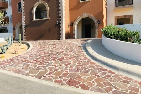 You may drive up to unload and smooth path way to our condo (1st floor/corner condo)