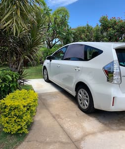 Parking in front of your walkway to your ohana
