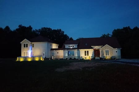 The entire front of the house lights up like a runway, neighbors tease us!