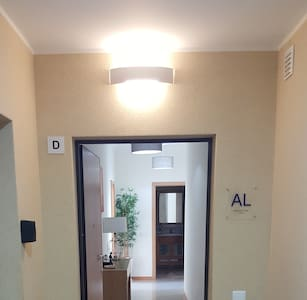 Very well lit entrance to the apartment