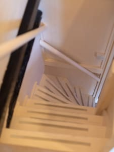 Steep stairs to attic room