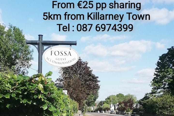 Fossa Guest Accommodation, 1 Double & 1 Single Bed