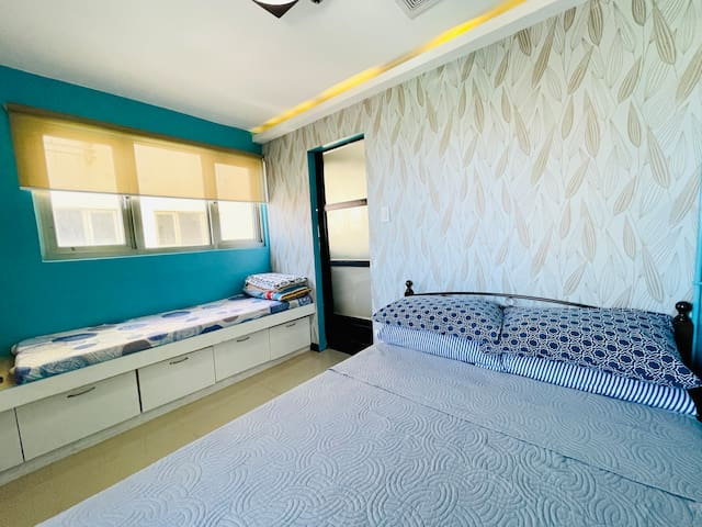 Bedroom with Double Bed & Single Bed