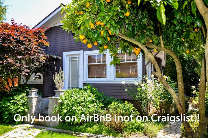 Large Garden Cottage Downtown Mill Valley