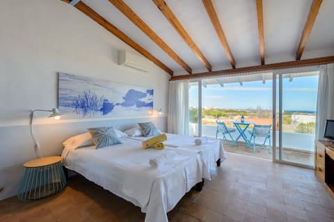 chambre avec vue sur mer Llebeig