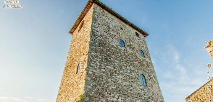 Medieval tower top floor. Florence 15 km. 55 sqm.