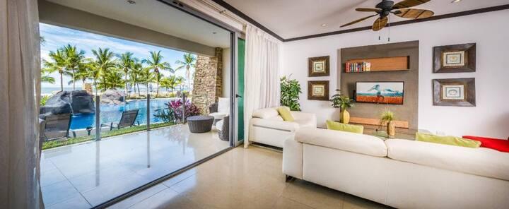 Beach front luxury 2 bedroom condo 102S