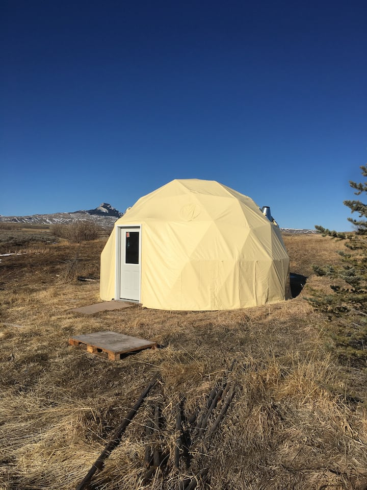 Wyoming Dome with a Mountain View.