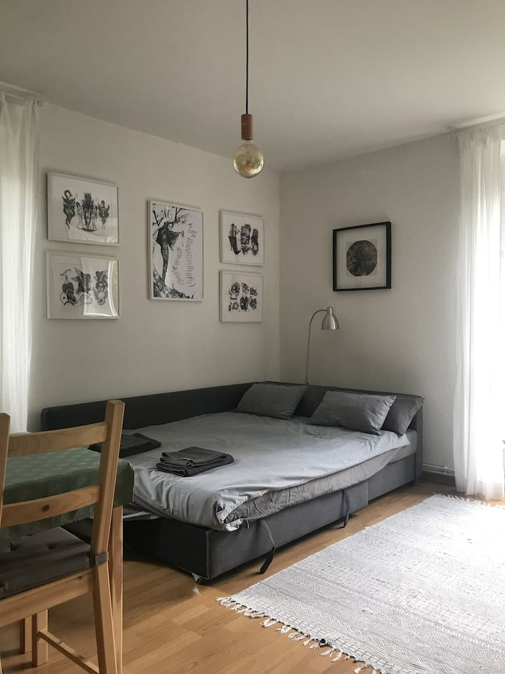 Cosy, bright room in green neighborhood