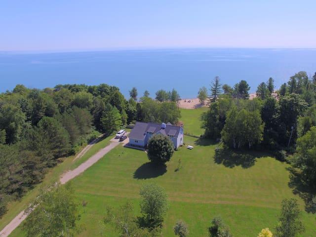 Spacious Lake Huron Home with Beachfront & 7 Acres