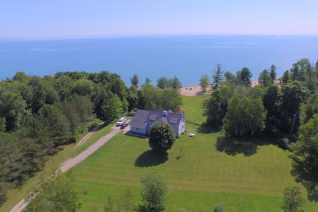 Spacious Lake Huron Home with Beachfront & 7 Acres
