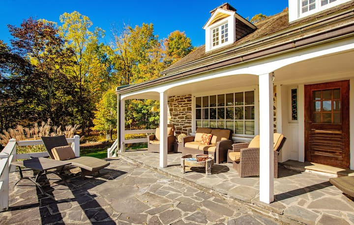 renovated farm house on 35 acres