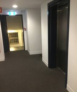 The apartment door is immediately accessible on exiting the lift.