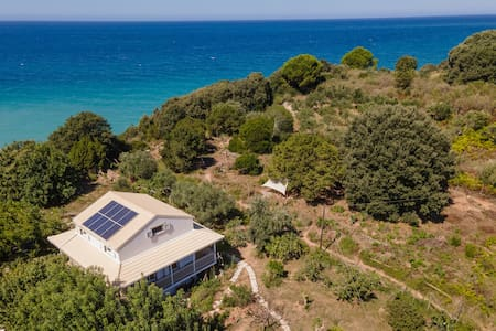 Solar House with private hidden beach