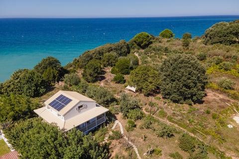 Solar House with private hidden beach