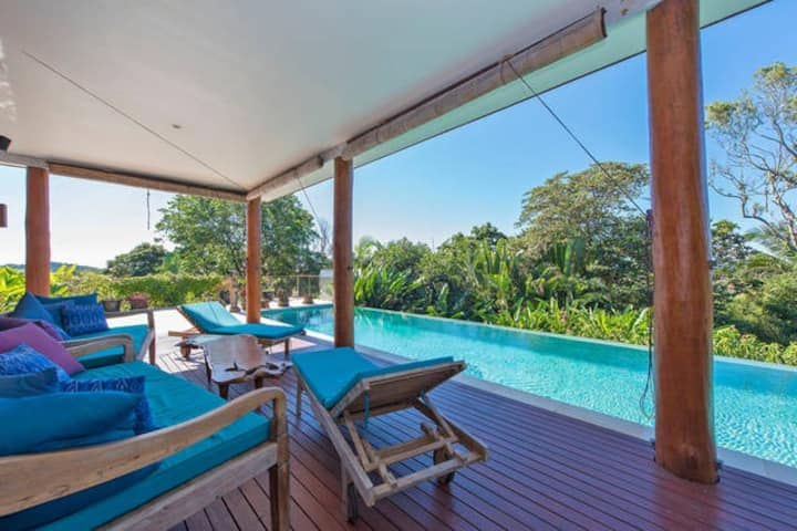 Tyagarah Villa Byron Bay Private Seaview Pool Spa