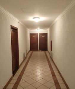 Motion sensor activated hallway lighting.